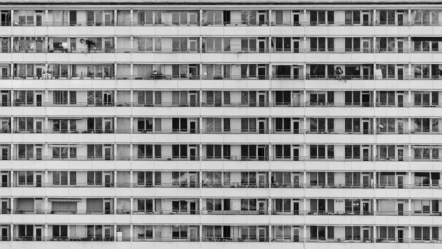 Apartment Architecture Urban Skycraper Balcony Balconies Lines And Shapes Pattern City No People Backgrounds Large Group Of Objects In A Row Side By Side Arrangement Day Built Structure Façade Residential District Residential Building Black And White Building Exterior Building Repetition Apartment Building Full Frame