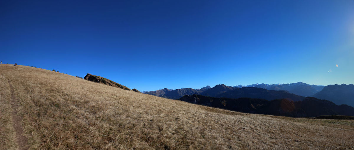 In the mountains Alpen Alps Country Day Gradient Gradiented Sky Mountain Mountain Range Mountain View Mountains Mountains And Sky Nature Panorama Panoramic Panoramic Photography Sky
