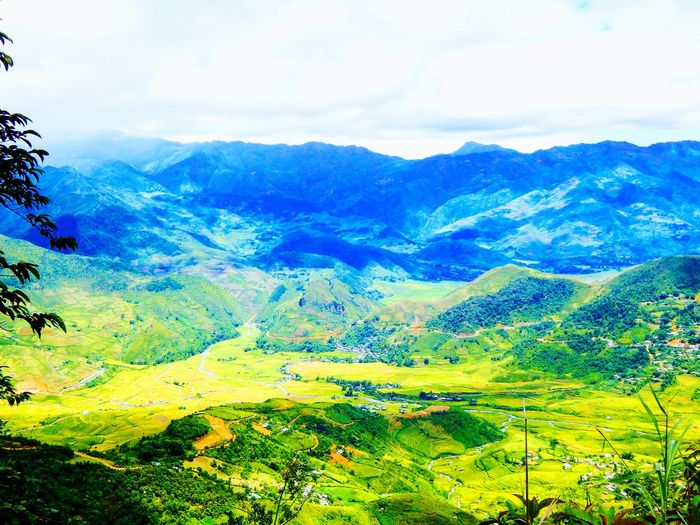 Mountain Beauty In Nature Nature Forest Tree Landscape Mountain Range Sky Wilderness Area Vacations Vietnam Trip Mucangchai Vietnam Mucangchai After Rain Khaupha Sapa Village