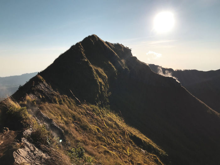 Sunrise trekking on Mount Batur - Indonesia Great Outdoors Morning Light Morning Sky Peaceful View Serenity Travel Trekking Batur Volcano Beauty In Nature Idyllic Landscape Mount Batur Mountain Nature Outdoors Peaceful Sunrise Travel Destinations Volcanic Landscape Volcano