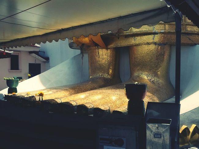 Golden Big Foot of Buddha in Bangkok