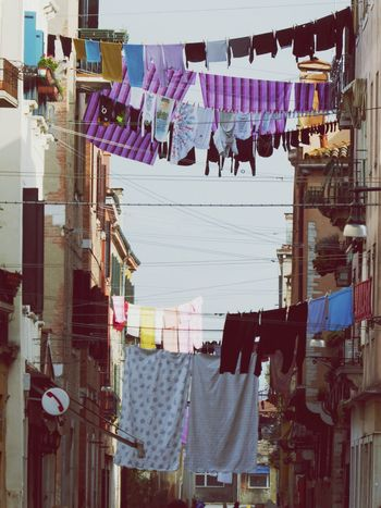 Hanging Clothesline Drying Laundry Clothing Architecture Built Structure