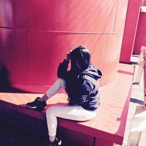 Sitting Lifestyles One Person Love Shopping Perfect Shot Europark Parkplatz Love My Friends ♥  first eyeem photo