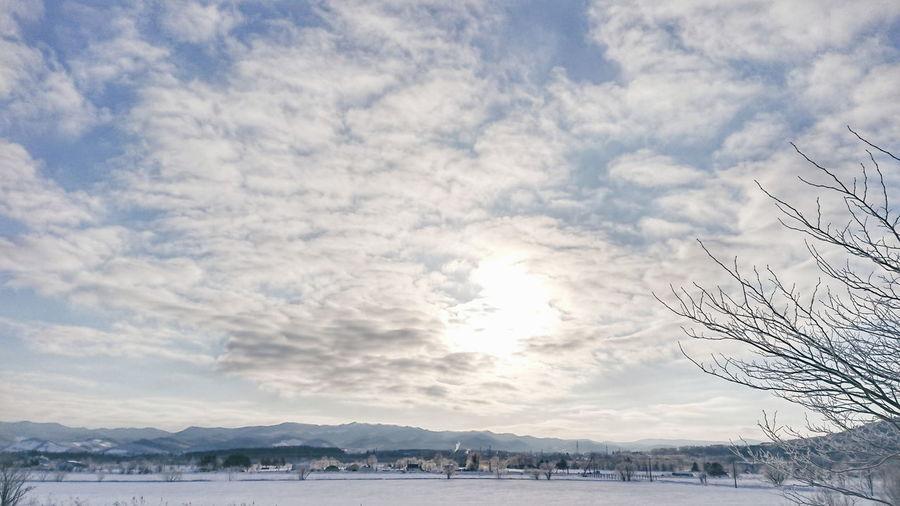 ☃️ Landscape Snow Winter Nature Nature Photography Sky Skyscraper Winterlandscape Landscape_photography Cloud - Sky Cloud Hokkaido 北海道 田舎暮らし Japan Black_chica1803