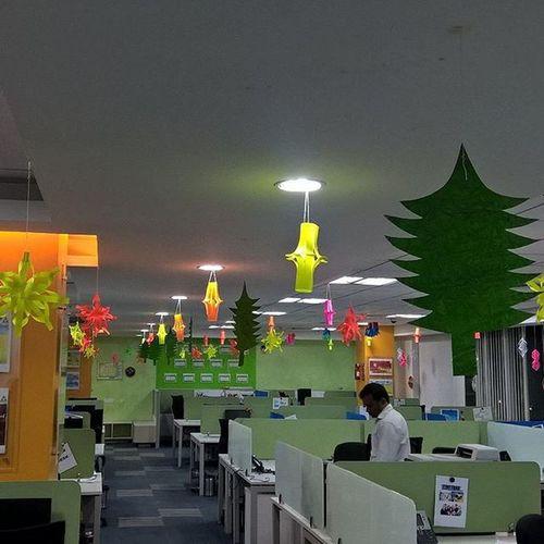 Christmas2015 Celebration Allready Started Dimensiondata Bengaluru Manyata_tech_park Handmade Beautiful Hangings  Loveit ThroughMyLens Throughmyeyes