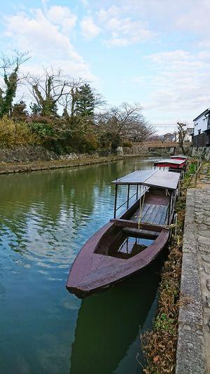 【Shiga,Japan】omihachiman city 近江八幡 Japan Biwa Lake Tourism January Shiga Ōmihachiman Boat Water Lake Reflection Sky