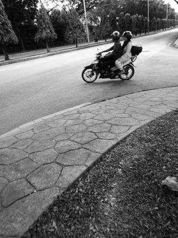 Capture The Moment Real People People Outdoors Day Black And White Motorbike Street Streetphotography Candid Photography