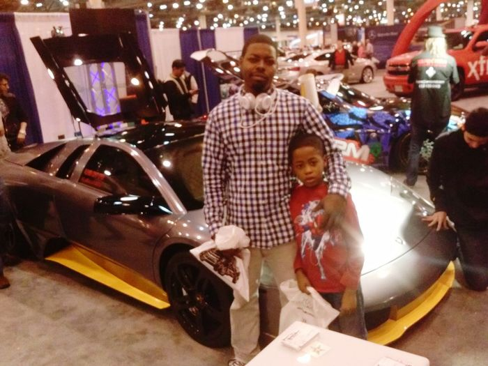 at the carshow with my little brother kamari Networking That's Me Favorite Person Coolin Guysnightout