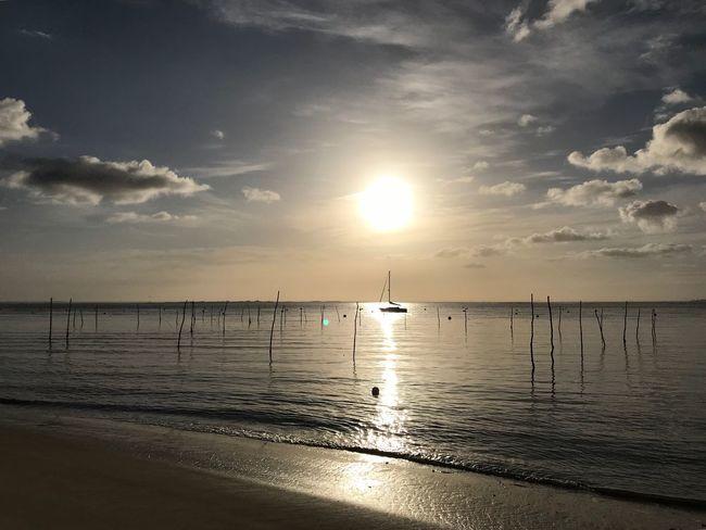 Water Sky Sea Scenics - Nature Beach Beauty In Nature Go Higher Tranquility Horizon No People Cloud - Sky Nature Idyllic Sun Horizon Over Water