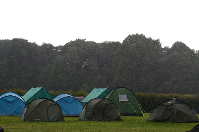 Camp Site Camping No People Outdoors Raining Rainy Day Shelter Tent Trees