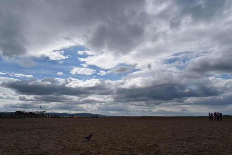 West Kirby Sand Beach Sky Landscape Cloud - Sky Dramatic Sky Cloudscape Moody Sky