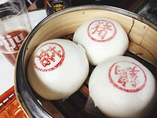 EyeEm Selects Food And Drink No People Table High Angle View Day Close-up Food Bamboo Steamer Oriental Oriental Style Oriental Food  Steamed  Steamed Bun Steamed Dumplings Dining Out Eating Out EyeEmNewHere