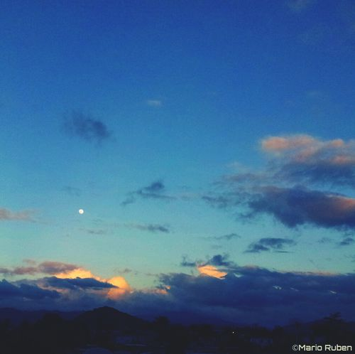 Sunset Moon Moon Rising Clouds And Sky Skyporn Puerto Rico Sky_collection Caguas