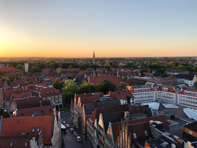 Cathedral Church Building Exterior Sky Architecture City Built Structure Cityscape Sunset High Angle View Outdoors Building