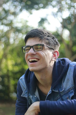 Day Eyeglasses  Fashion Focus On Foreground Future Geek Glasses Happiness Headshot Leisure Activity Lifestyles Looking At Camera Nature One Person Outdoors Portrait Real People Smiling Student Travel Traveling Tree University Young Adult Young Men