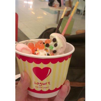 First time having Sogurt haha!! @sgsogurt