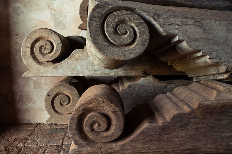 Built Structure Carving Chapitel Close-up History Old Wood Wood - Material