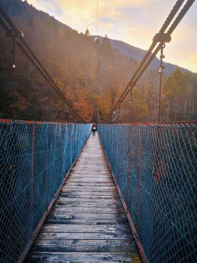 Suspension bridge in north east italy