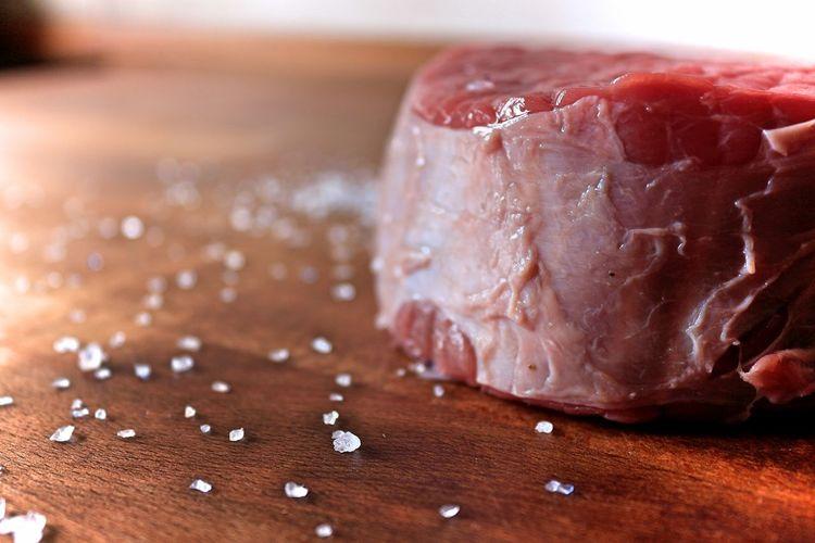 macro Beef Fresh Juicy Food Close-up Red Processed Meat Meat Red Meat Salt