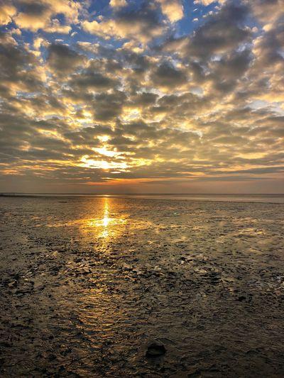 Sunset Sea Cloud - Sky Beach Reflection