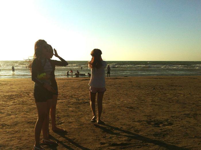 Strangers!!! Beach Sand Friendship Horizon Over Water The Great Outdoors - 2017 EyeEm Awards