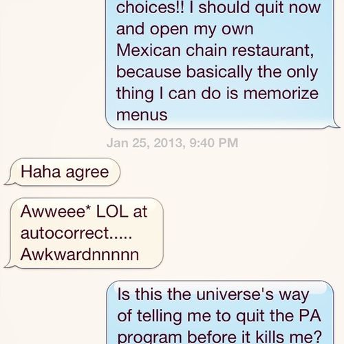 Oh autocorrect, you always know how to make a conversation super awkward...