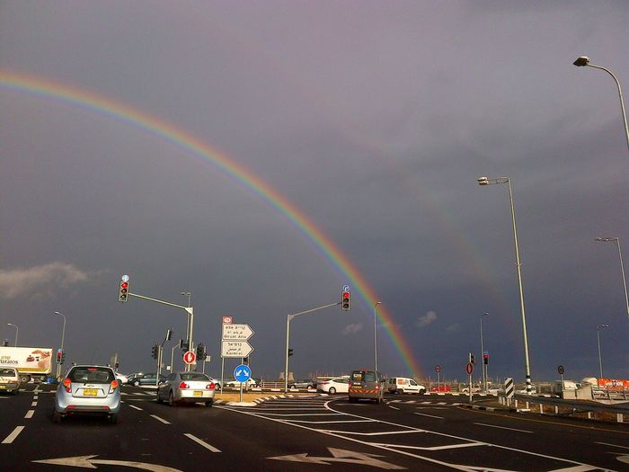 I met an amazing natural phenomenon on my way to work today...:) Rainbow Sky Rainbows Eye4photography  Nature_collection