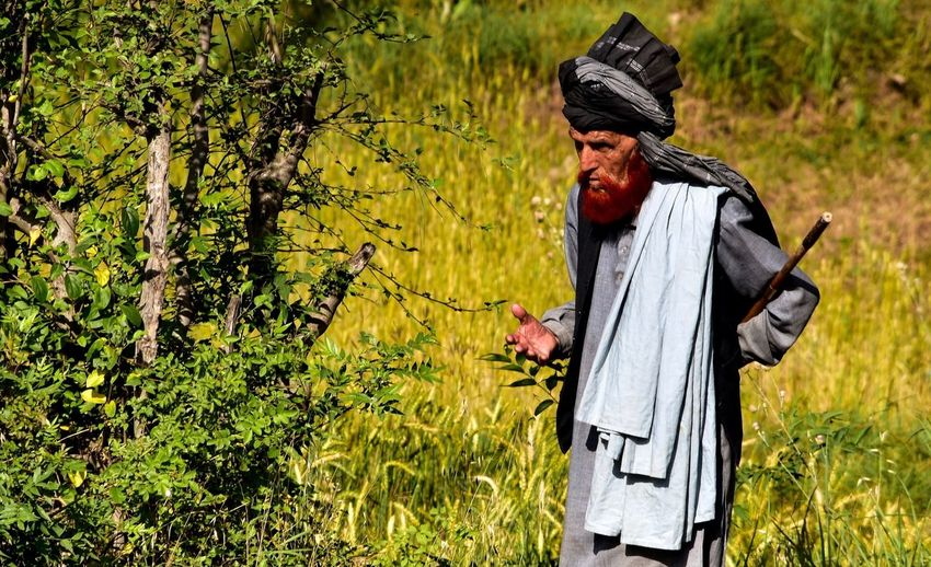 Casual Clothing Cultural Culture Of Pakistan Field Grassy Leisure Activity Lifestyles Oldman Traditional Clothing