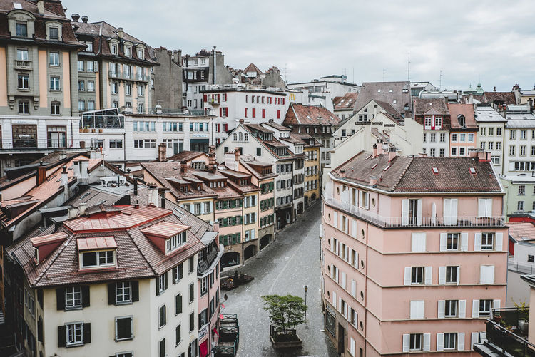 Cityview of Lausanne Architecture Building Exterior Built Structure City Cityscape Cityscapes Cloud - Sky Day Dreams Fairytale  House Layers No People Oldcity Outdoors Residential  Residential Building Sky Streetphotography Vacation