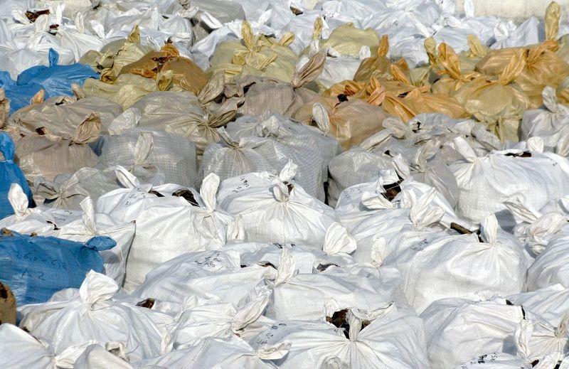 Full Frame Shot Of Plastic Sacks