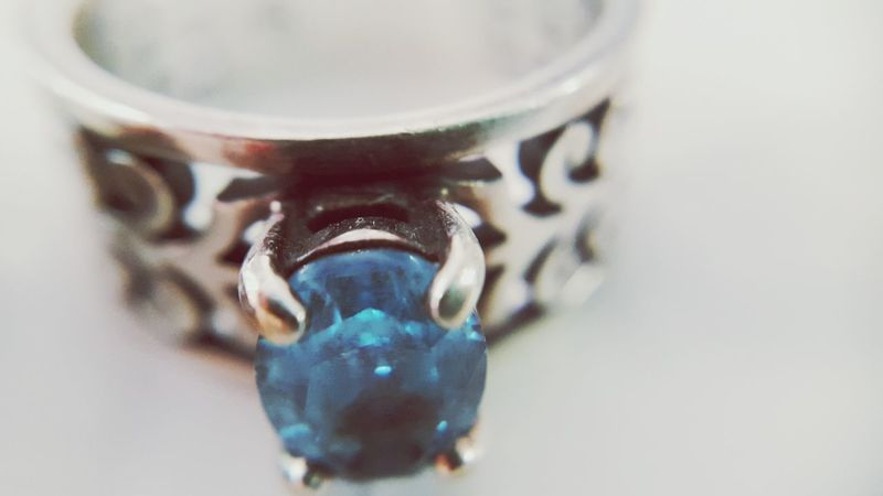 Close-up No People Indoors  Water Day Ring Blue Stone Topaz