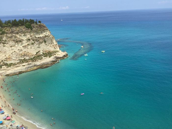 Tropea Beach Sea Blue Water Beautiful Amazing View Calabria Italy Sunset Sun Sea Season Summer