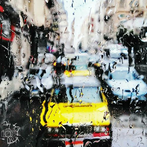 Yellow Close-up Taxi! Alexandria Egypt Rainy Days Infinix Infinixhot3 Infinixphotography Infinixcam