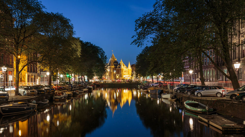 De Waag Amsterdam Architecture Blue Hour Building Exterior Built Structure Canal City City Life Europe History Holland Long Exposure Netherlands Outdoors Reflection Reflection Residential District Urban Water Water Reflections Waterfront Seeing The Sights