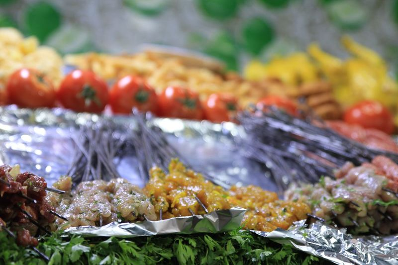 Close-up of fish in market stall