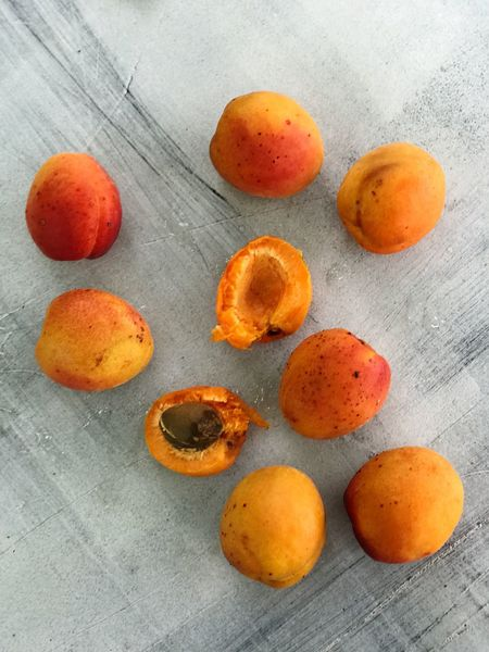 Orange Color Food And Drink Fruit Freshness No People Healthy Eating High Angle View Table Food Indoors  Close-up Day Apricot Apricot Seed