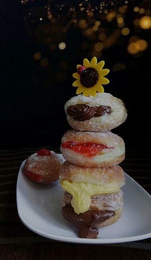 Bomboloni Bakery Dessert Fruit Candy Tree Christmas Gelatin Dessert Defocused Cake Tradition