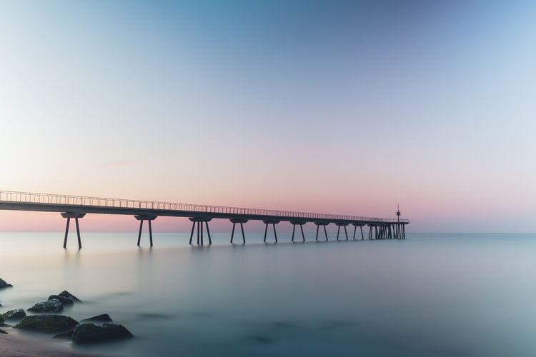 Barcelona Barcelona, Spain Travel Travel Photography Beach Beauty In Nature Bridge - Man Made Structure Long Exposure Scenics Sea Sunrise Sunrise_sunsets_aroundworld Travel Destinations
