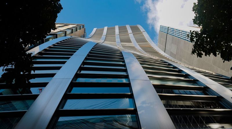 Architecture Built Structure Building Exterior City Building Sky Low Angle View Day Tall - High Nature Office Building Exterior Modern No People Skyscraper Outdoors Tower Office Sunlight Railing Staircase