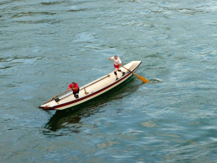 Switzerland 2008 May Boats People Man Sport River