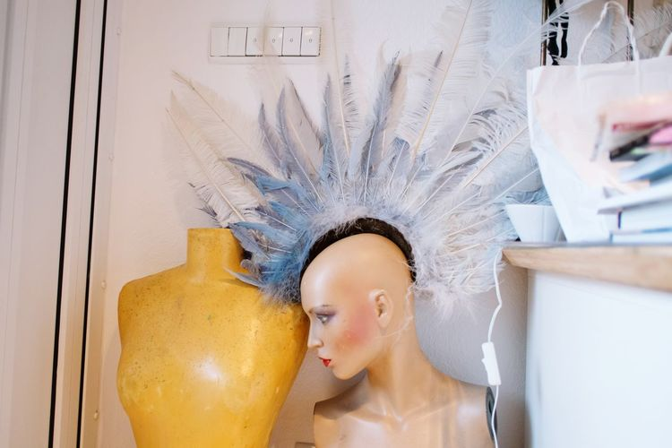 EyeEm Selects Indoors  Mannequin Plastic People Feathers Feather Head Dress Mowhawk