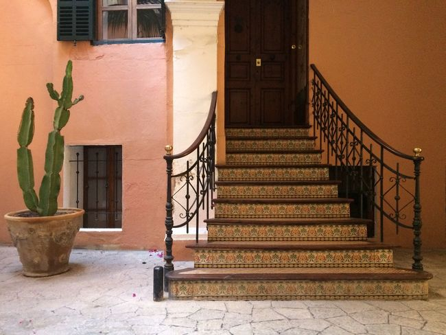 Cactus Mediterranean  Plant Life SPAIN Architecture Courtyard  Door Hand Rail Railing Staircase Steps Steps And Staircases Window Your Ticket To Europe