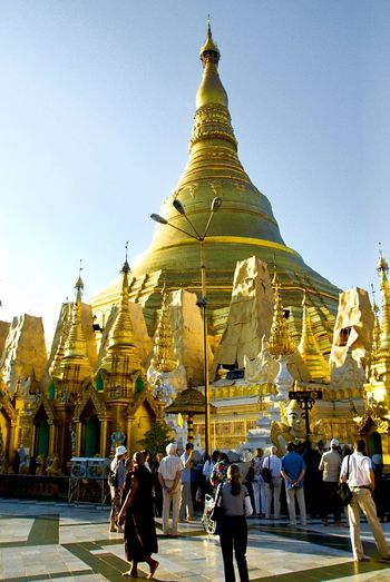Birma Burma Myanmar Holy Heilig Goldene Pagode Pagode Building Exterior Architecture Religion Building Spirituality Pagoda