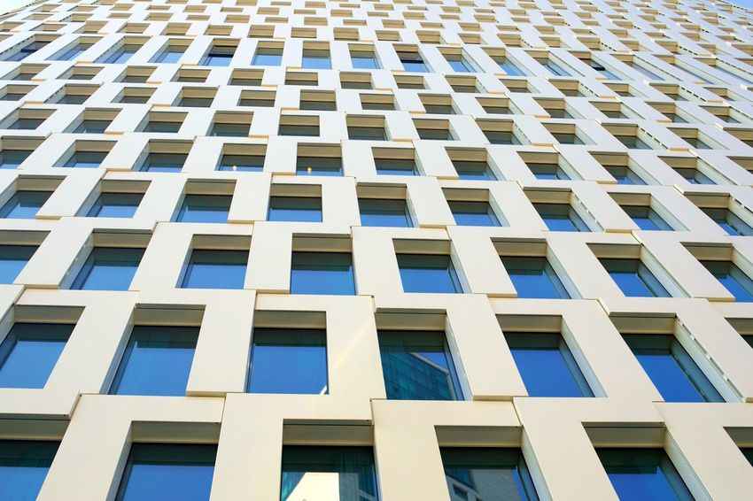 Architecture Backgrounds Building Building Exterior Built Structure City Day Design Full Frame Glass - Material In A Row Low Angle View Modern No People Office Building Exterior Outdoors Pattern Repetition Window