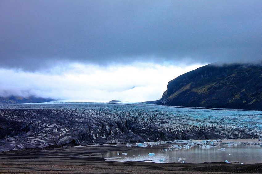 Beauty In Nature Blue Glacier Iceland Iceland_collection Majestic Mountain Nature Outdoors Rock Formation Scenics Skaftafell Skaftafellsjökull Tranquil Scene Tranquility Water Ice Age