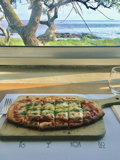 Pizza 👌 Foodporn River View Landscape Pizza Food And Drink Food Table Plate Ready-to-eat No People Serving Size Food Stories