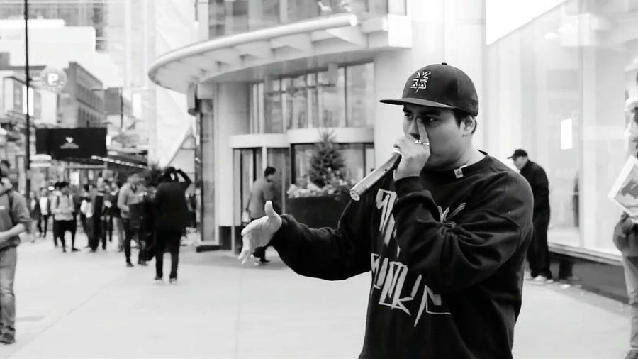 Beatboxer Performer Beatbox Beatboxing SantaSuerte Toronto Canada Square Show Street Street First Eyeem Photo