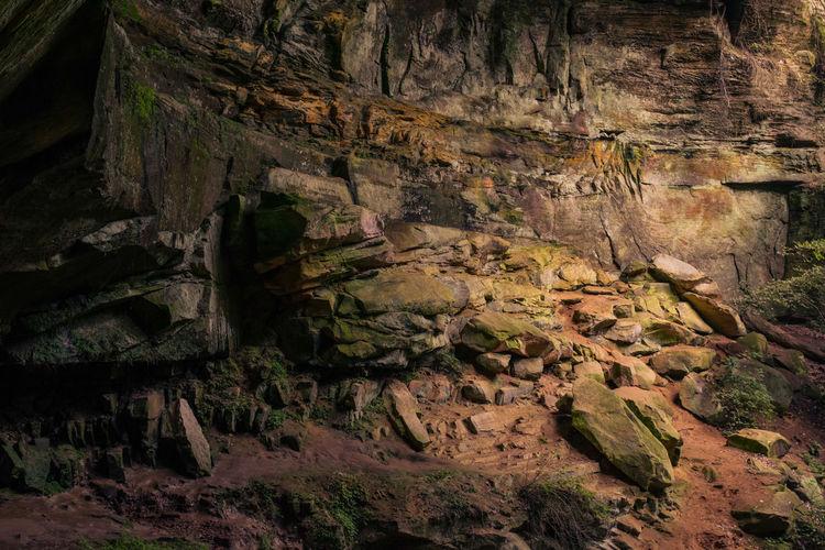 Full frame shot of cliff