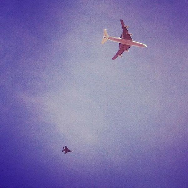Flew right over me! #endeavour #shuttle Endeavour Shuttle
