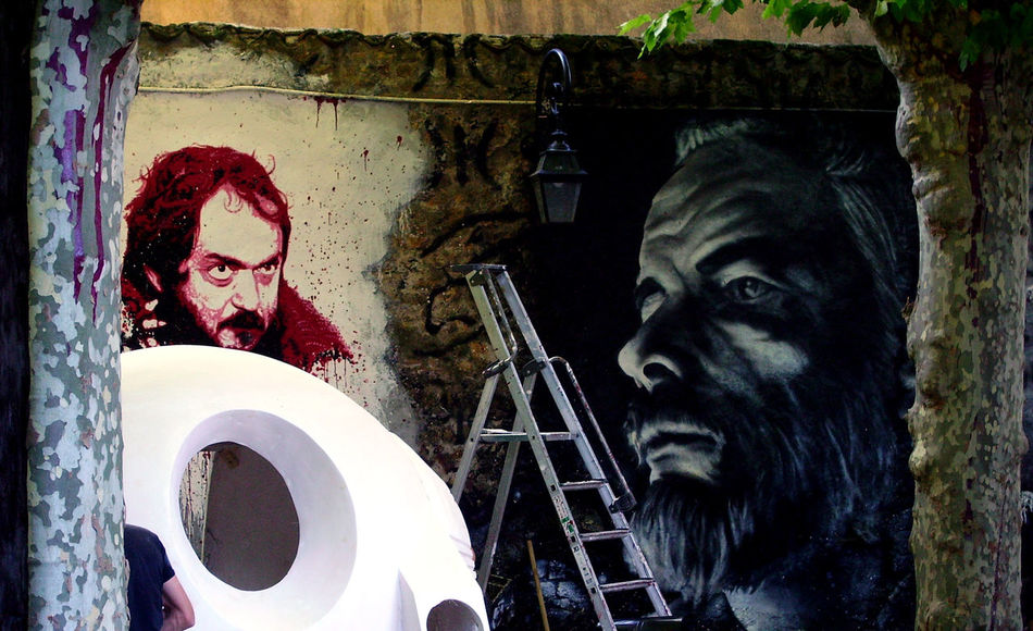 At Work Kubrick La Demeure Du Chaos Oil Paint Building Exterior Large Painting Modern Art One Person Outside Street Art